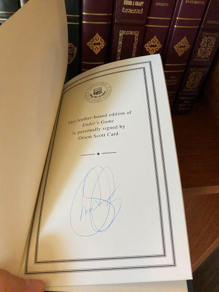 Orson Scott Card Signed Enders Game